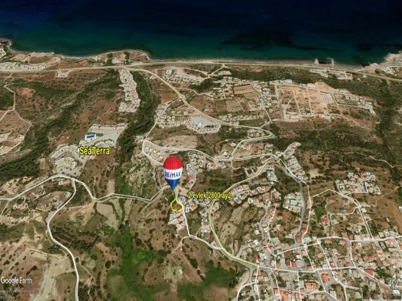 KYRENIA / ESENTEPE 929 m2(SEA VIEW) LAND FOR SALE Remax Golden Cyprus