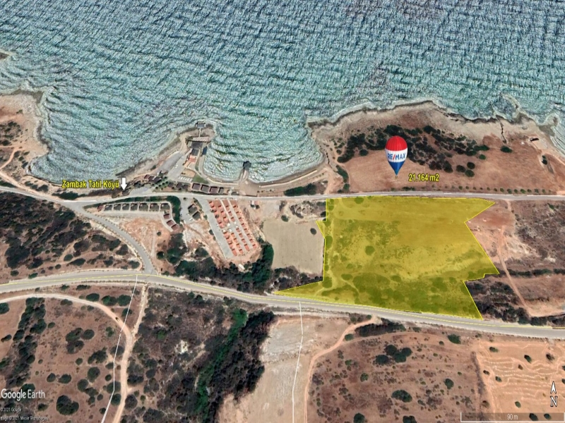TATLISU DISTRICT 21.164 M2 SEA FRONT LAND FOR SALE Remax Golden Cyprus