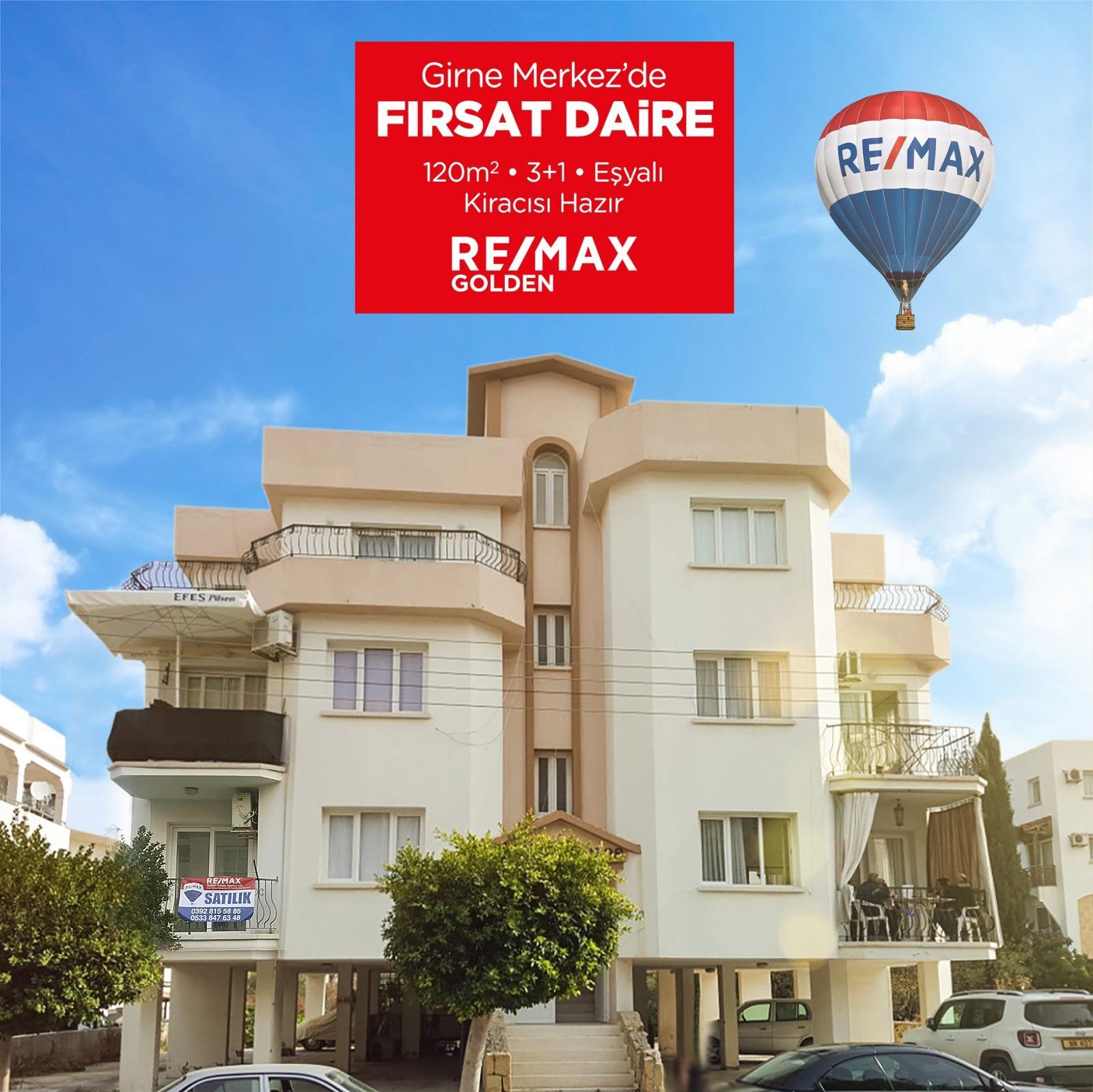 Kyrenia City Center 3+1 Flat Remax Golden Cyprus